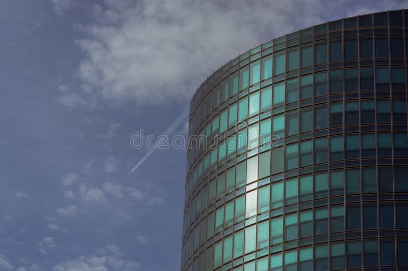 A big office tower on a summer day stock photo
