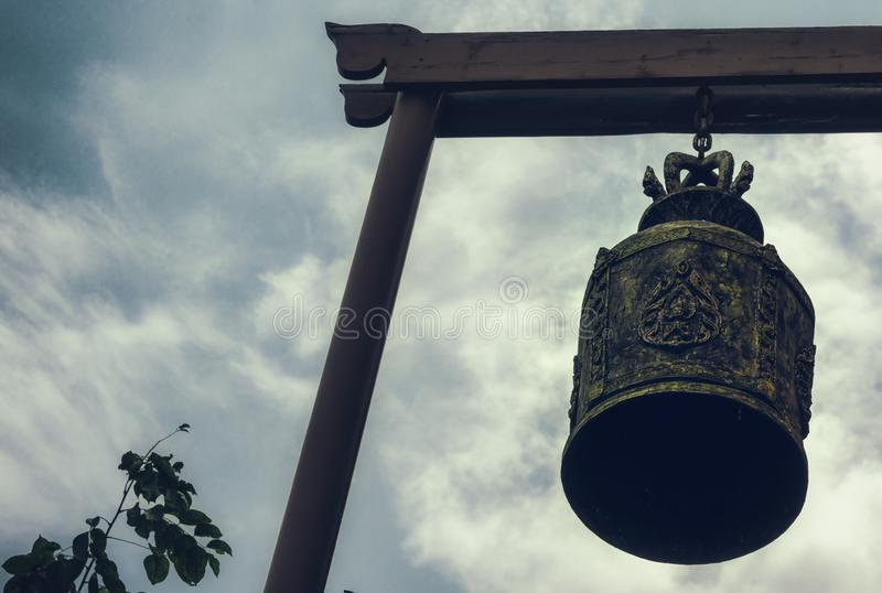 A big, old bell in Thailand royalty free stock photo