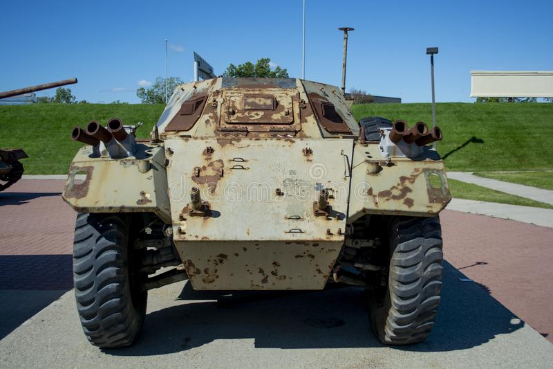 Big old historic war tank. Used in combat by the military. royalty free stock photos