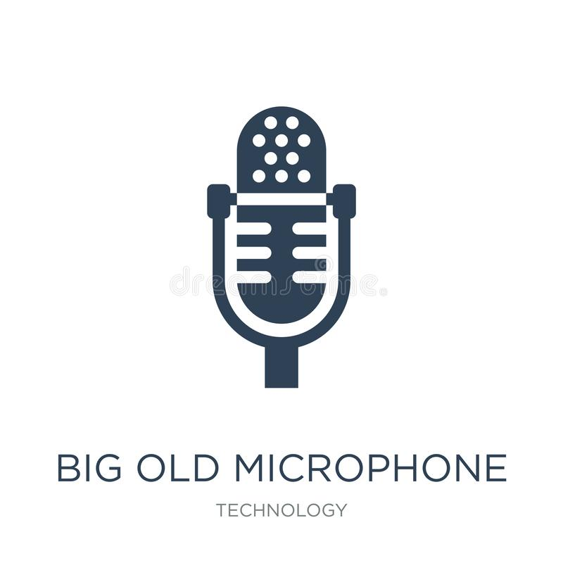 big old microphone icon in trendy design style. big old microphone icon isolated on white background. big old microphone vector vector illustration
