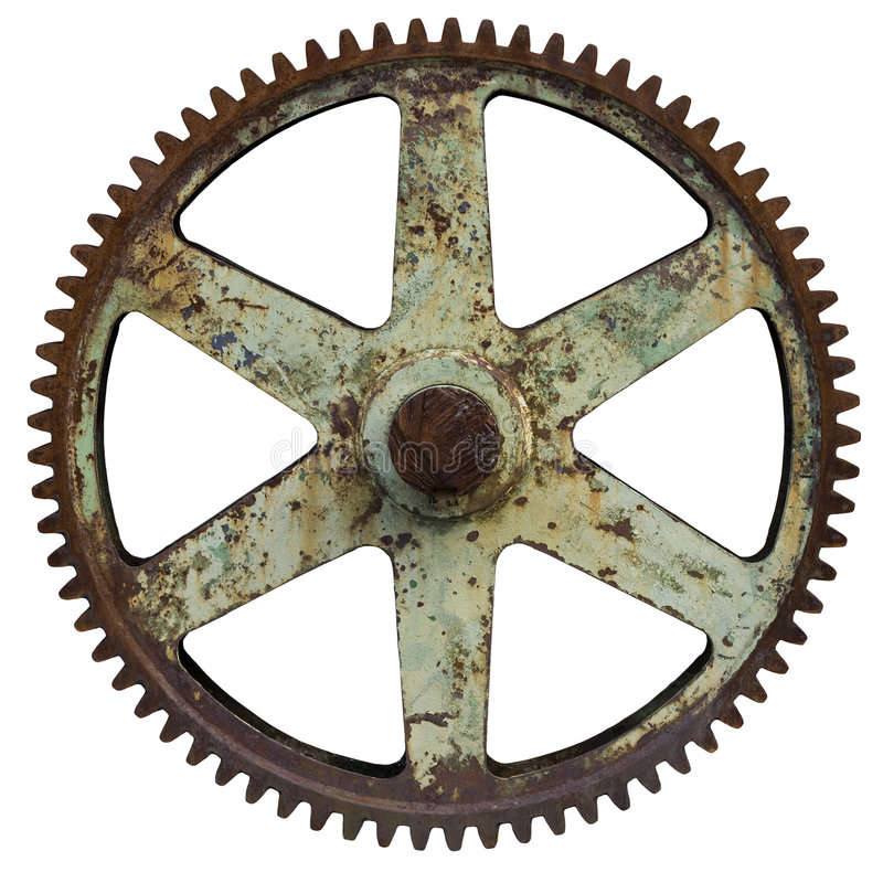 Free Big Old Rusty Gear Royalty Free Stock Photography - 9004347