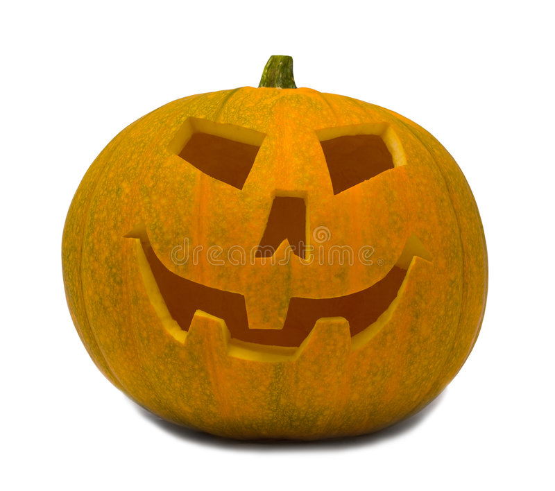 Big orange Jack-O-Lantern Pumpkin royalty free stock photography