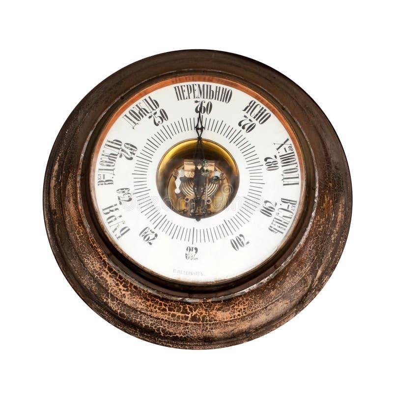 Big Outdoor Vintage Barometer Royalty Free Stock Photos