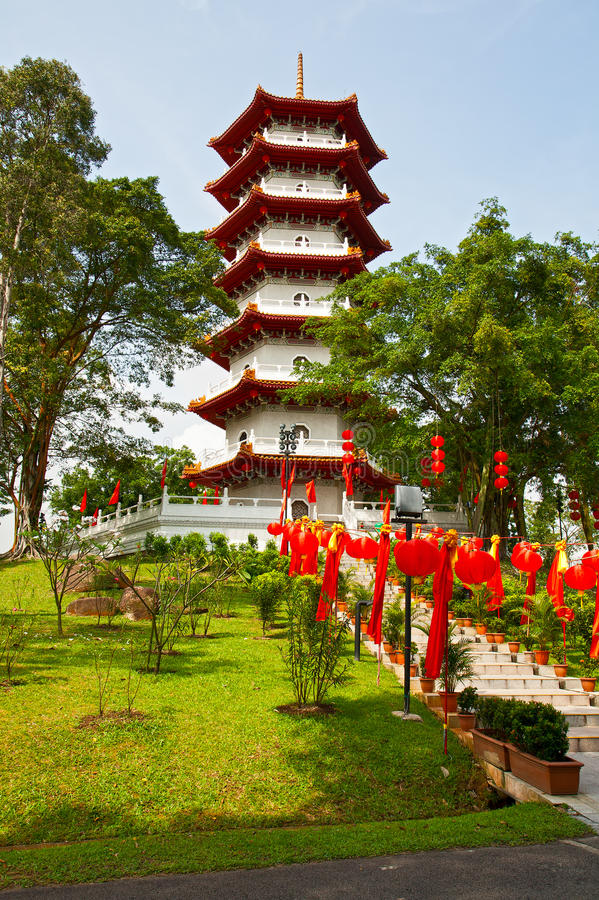 Download The big pagoda stock image. Image of people, seven, grass - 23799321