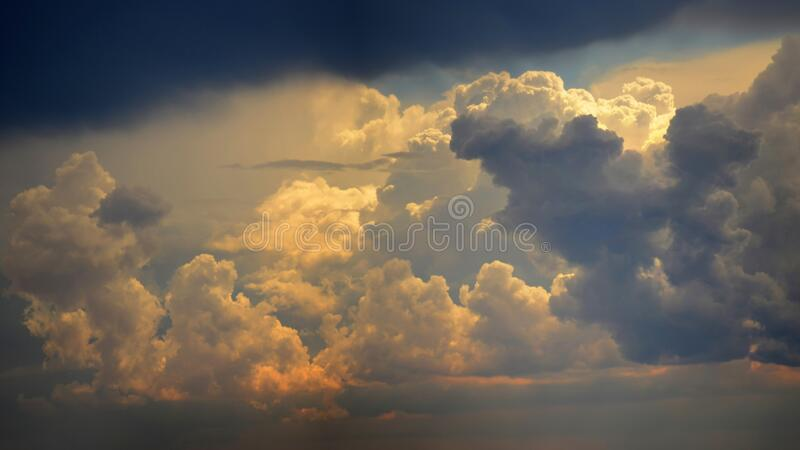 Big panoramic sky stock photography