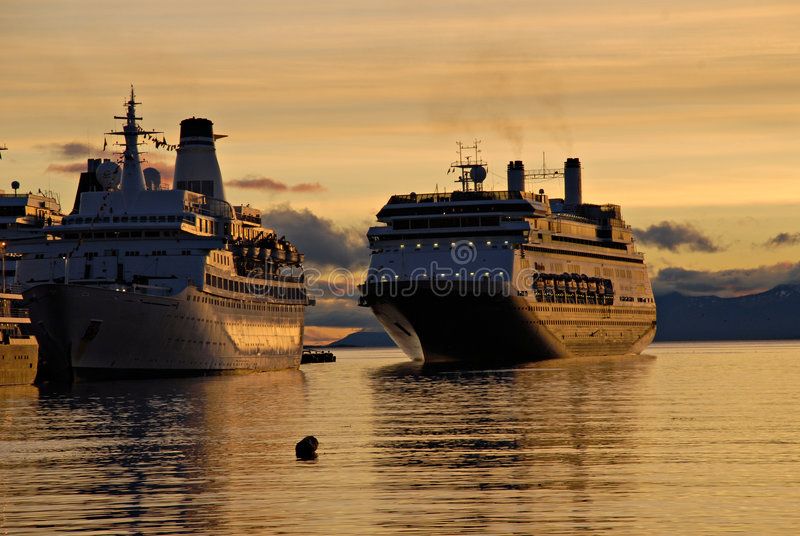 Download Big Passenger Ships In Ushuaia. Stock Photo - Image: 4508490