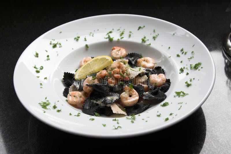 Big pasta plate stock photography