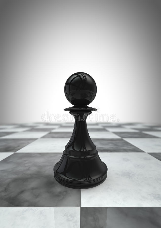 Download Big pawn black stock illustration. Image of individuality - 21525959
