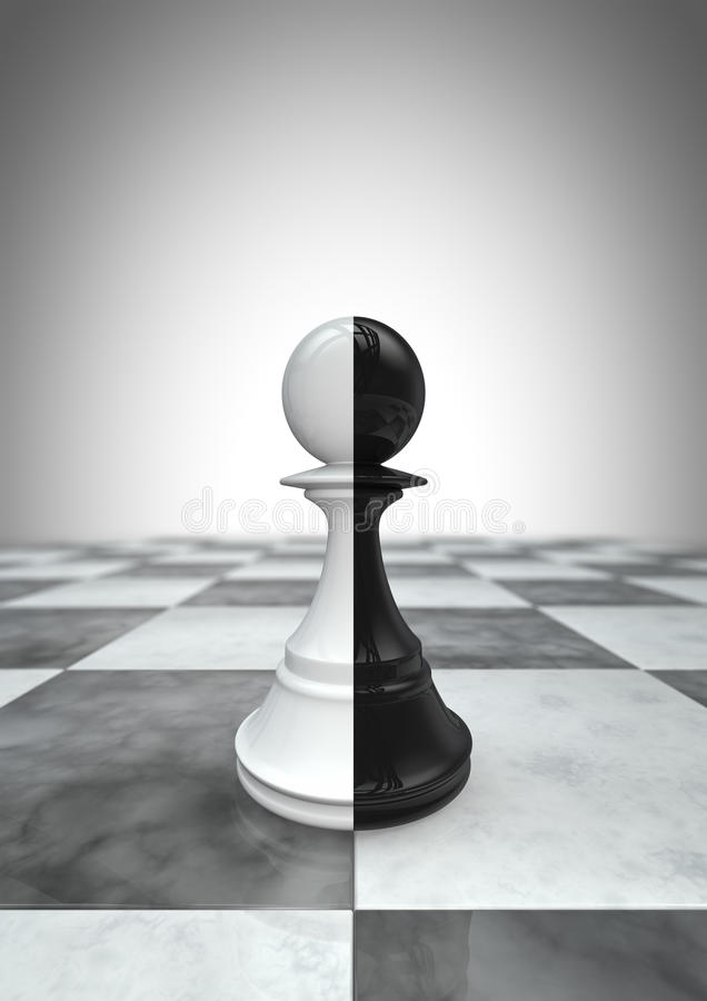Free Big Pawn Black And White Stock Images - 21525954