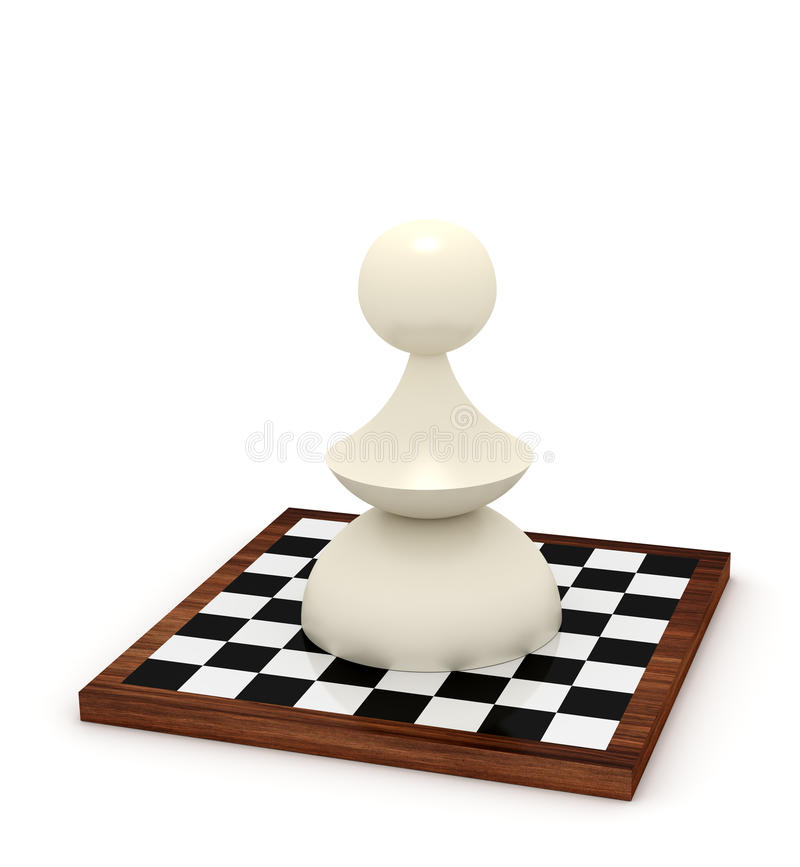 Big Pawn On Chessboard Stock Image