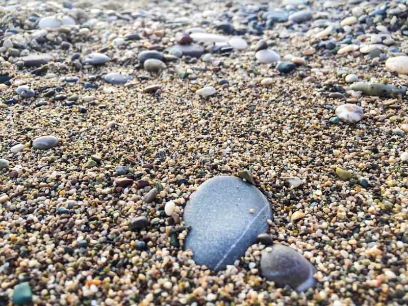 Big pebble rock. Close up background royalty free stock images