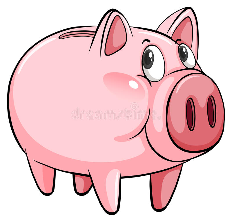 A big piggybank stock illustration