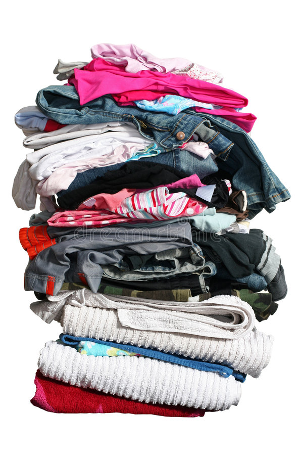 Free Big Pile Of Laundry With Path Royalty Free Stock Images - 697119