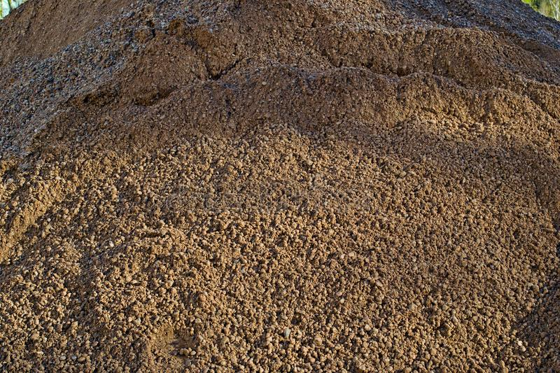 Big pile of sand is close. Up royalty free stock photos