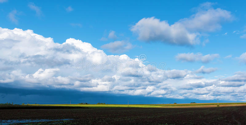 Big powerful storm clouds stock photo