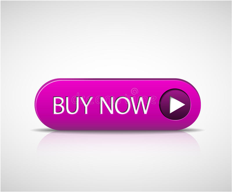 Big purple buy now button royalty free illustration
