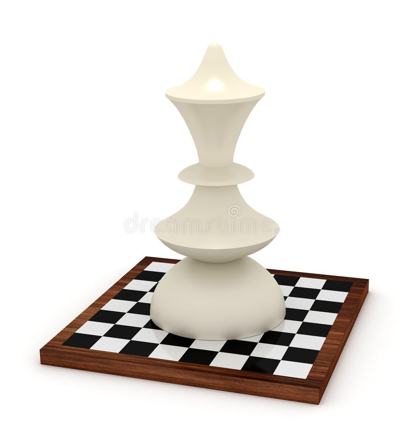 Big Queen On Chessboard Royalty Free Stock Image