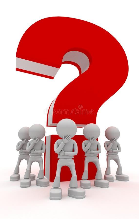 Big question royalty free illustration