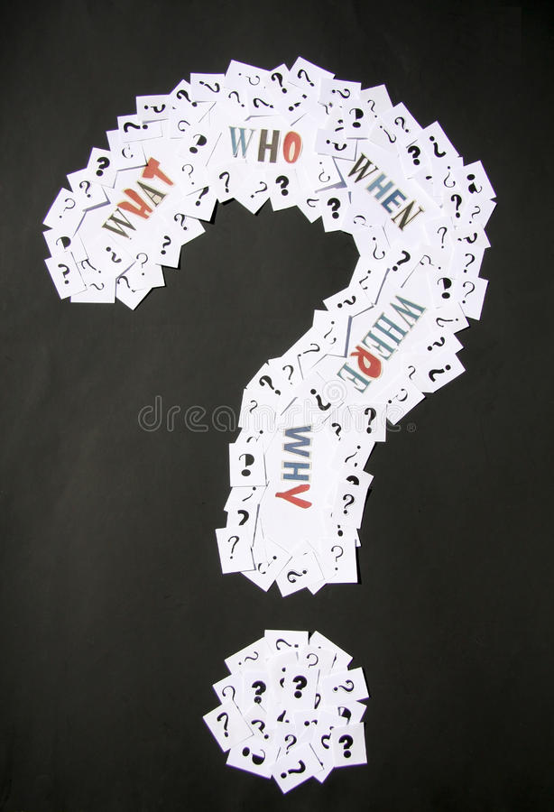 Download Big Question Mark With Words Stock Photo - Image of life, school: 30052056