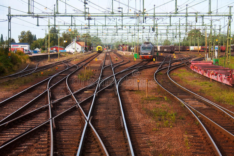 Big railway station royalty free stock image