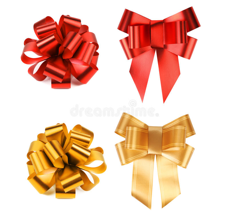 Free Big Red And Yellow Bows. Royalty Free Stock Photos - 36982858