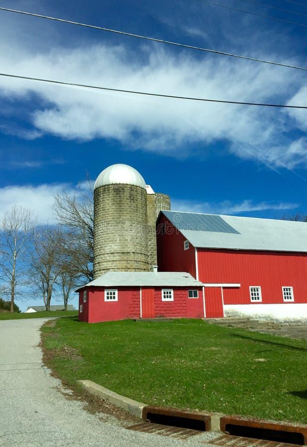 Big Red Barn royalty free stock image