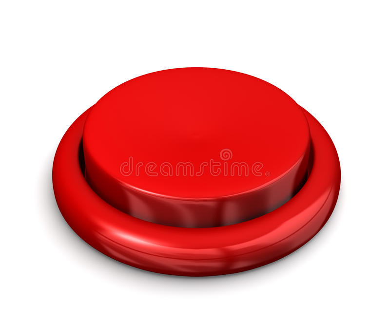 Big Red Button stock illustration