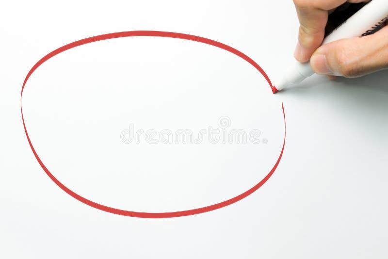 Big red circle stock image