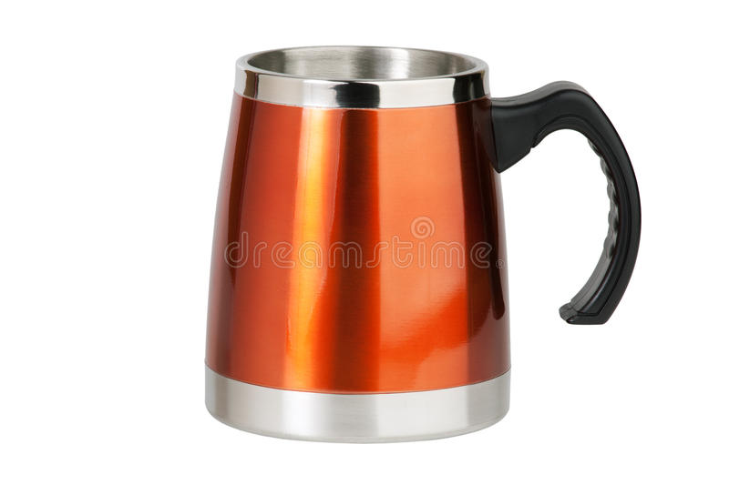 Download The Big Red Cup - Thermos With Black Handle Stock Image - Image: 23178079