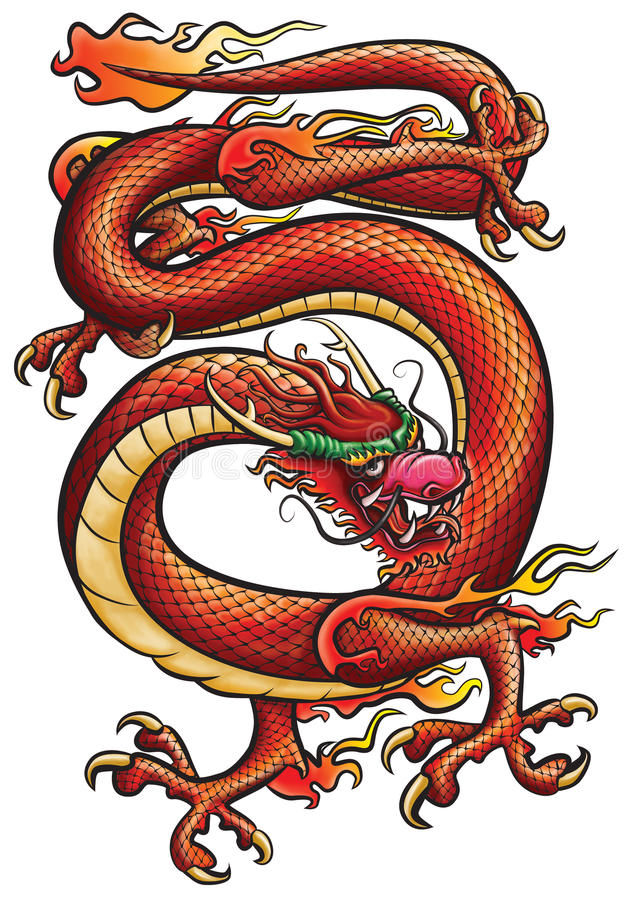 Download Big Red Dragon Royalty Free Stock Photography - Image: 16780557