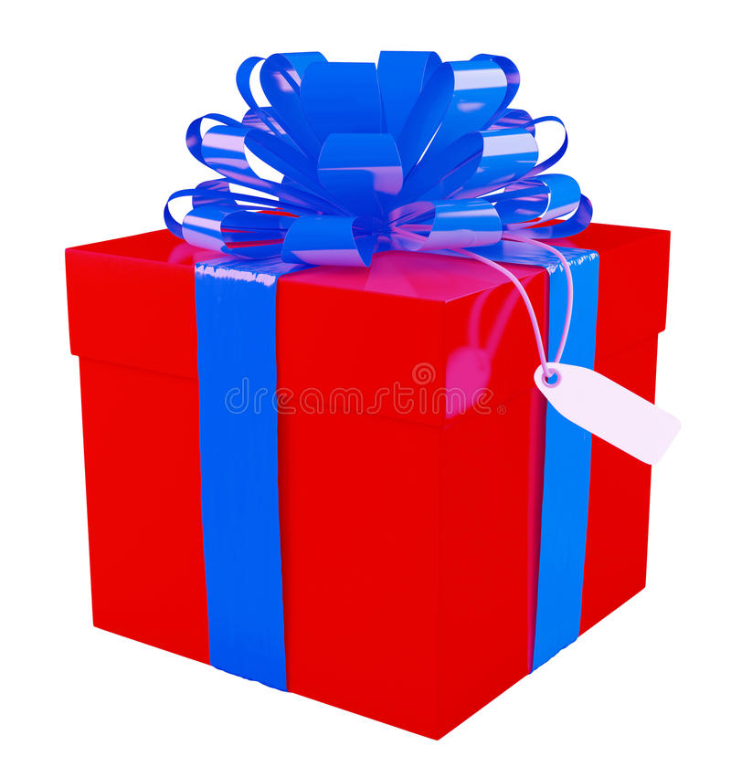 Download Big red gift box stock illustration. Image of happy, cardboard - 34644509