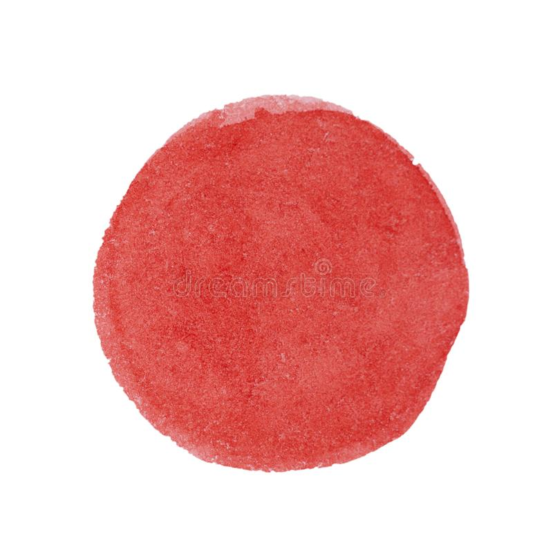 Big red grunge circle on old vintage background. Sealed with decorative stamps. Stylized symbol of Japan. illustration. Big red grunge circle on old vintage royalty free stock photo