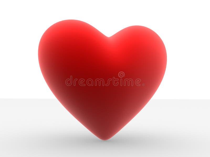 Big red heart vector illustration