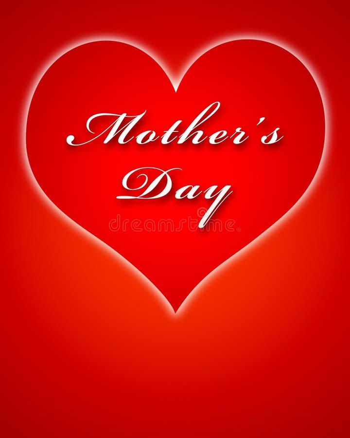 Download Big Red Heart For Mother's Day Stock Illustration - Illustration: 5072372