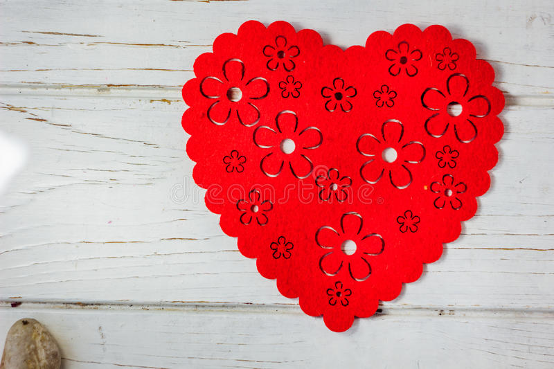 Big red heart over the white background. Big red heart over the white background royalty free stock photo