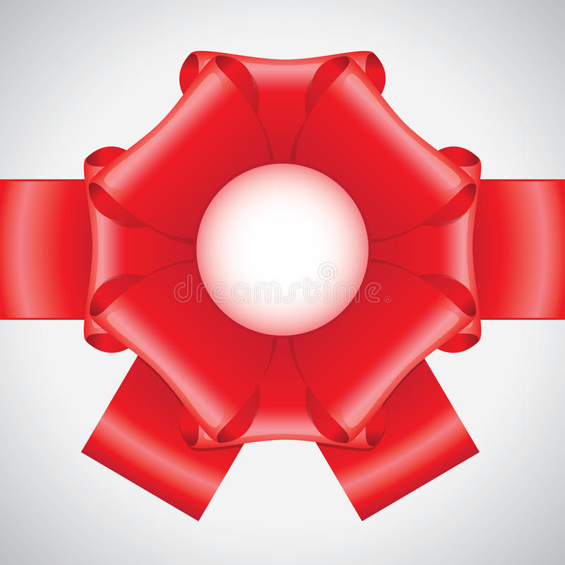 Download Big red ribbon bow stock vector. Image of illustration - 22176865