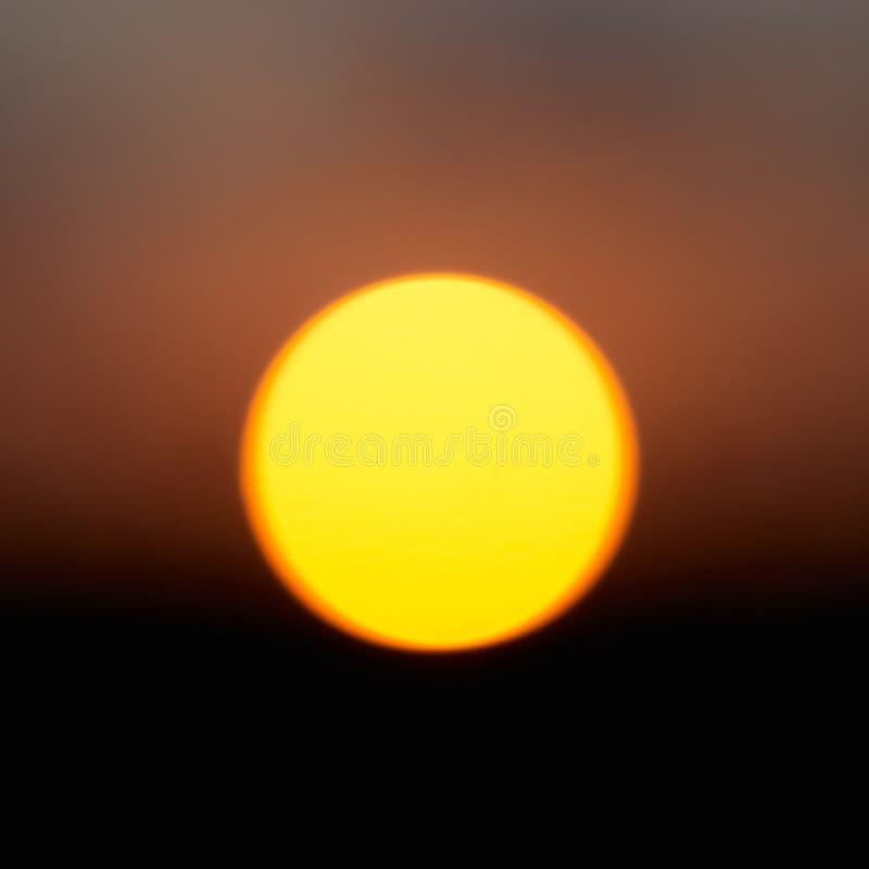 Big red star Sun. Sunset over the horizon stock photos