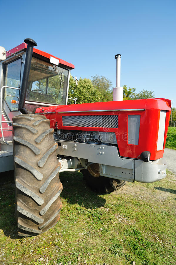 Big Red Tractor Royalty Free Stock Photography