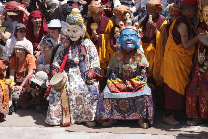 Big religion festival in Hemis royalty free stock image
