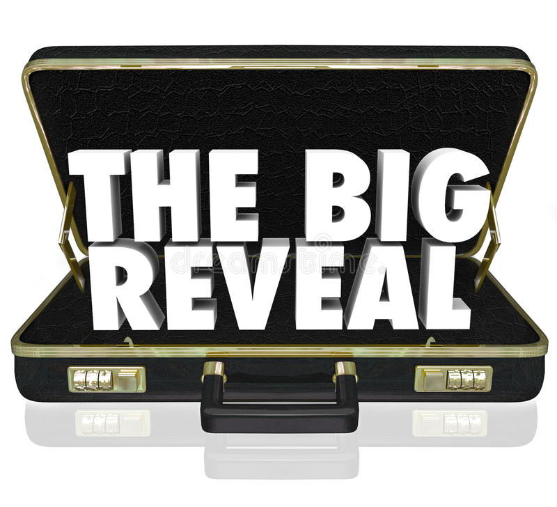 The Big Reveal Opening Briefcase Revealing Mystery Inside royalty free illustration