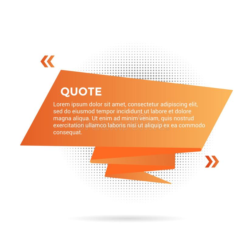 Big ribbon with quote text space vector illustration isolated on white background. vector illustration