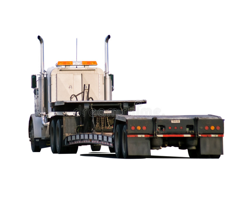 Download Big Rig With Drop-deck Trailer Stock Images - Image: 7133034