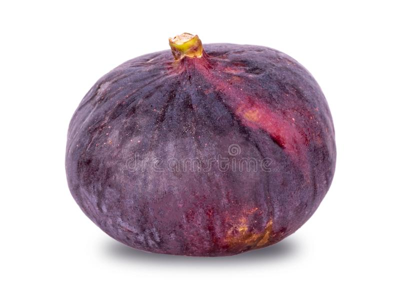 Big ripe fig on a white background royalty free stock images