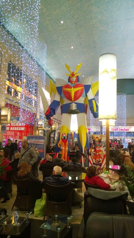Big robot. A big robot in a italian shopping mall royalty free stock photo