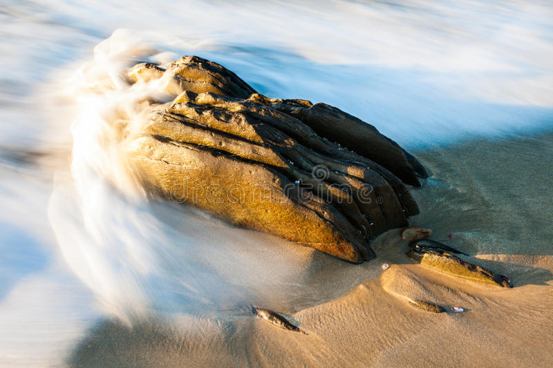 Big rock. A big rock situated at Dias in Mosselbay stock photo