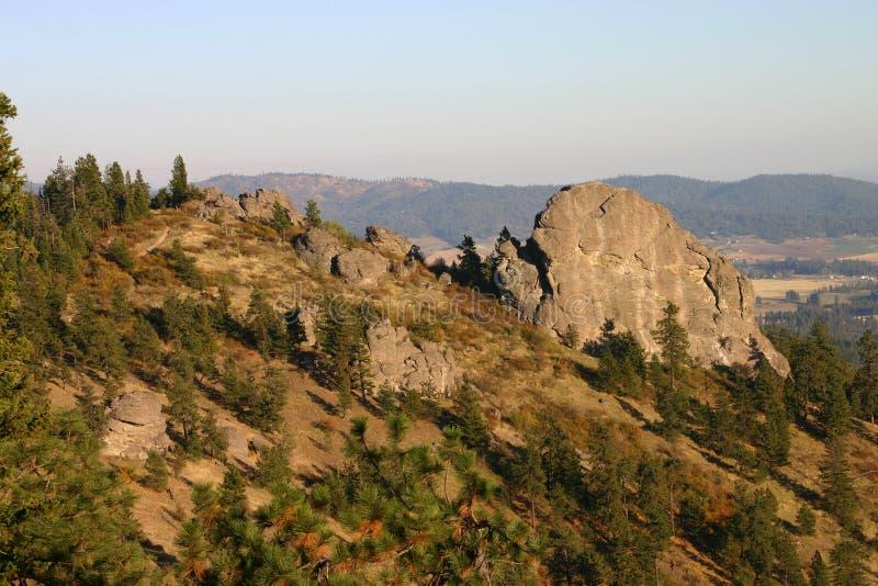 Big Rock. Looking out over Big Rock (aka Rocks of Sharon) near Spokane, Washington stock photography