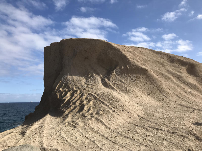 Big rock at the coast. Of San Miguel de Tajao in Tenerife stock images
