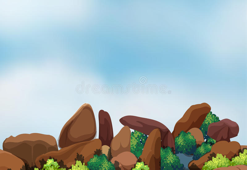 Big rock formation royalty free illustration