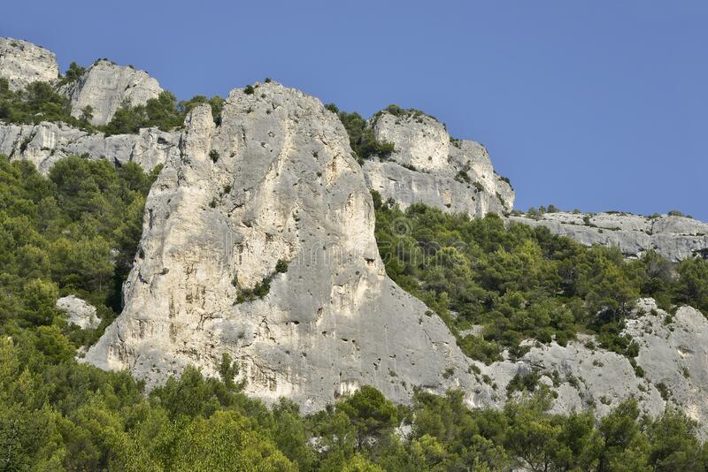 Fontaine de Vaucluse in France stock photography