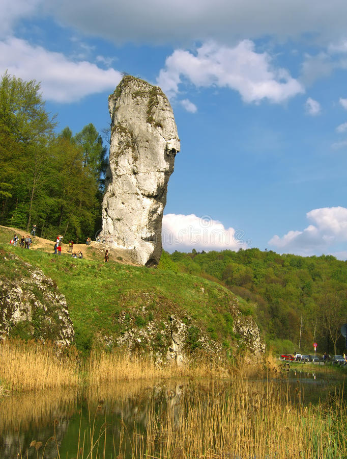Download Big rock in Poland stock image. Image of spring, forest - 33515129